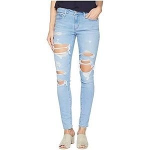 Levi's 711 skinny distressed jeans